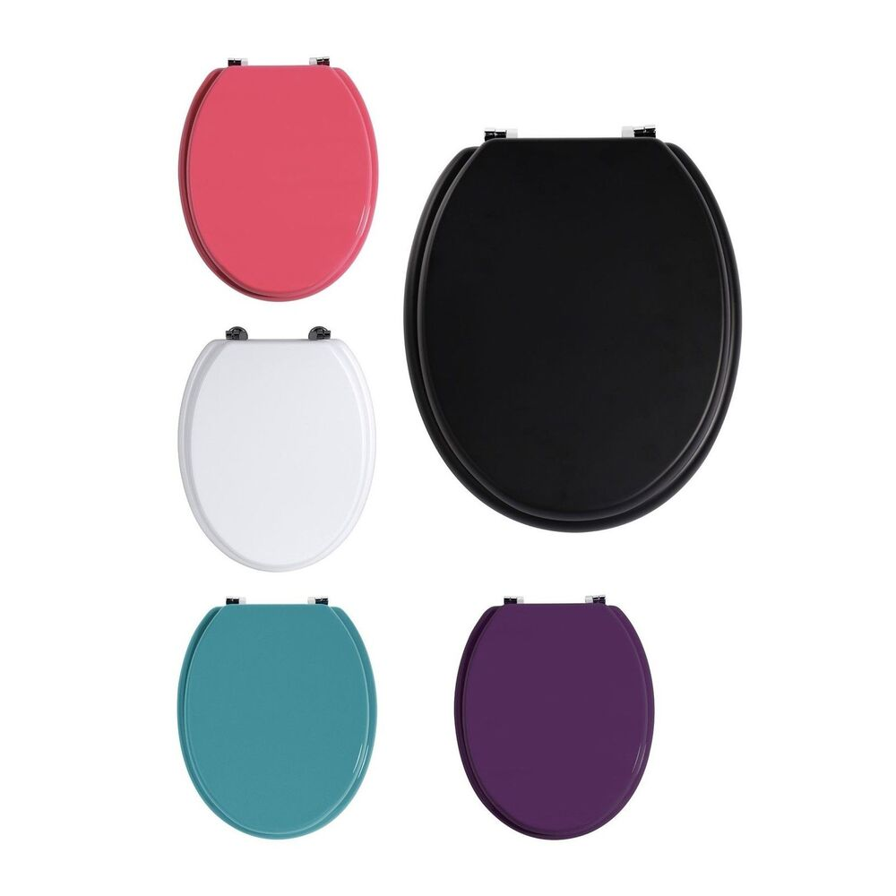 Luxury White Black Pink Purple Amp Teal Color Toilet Seat