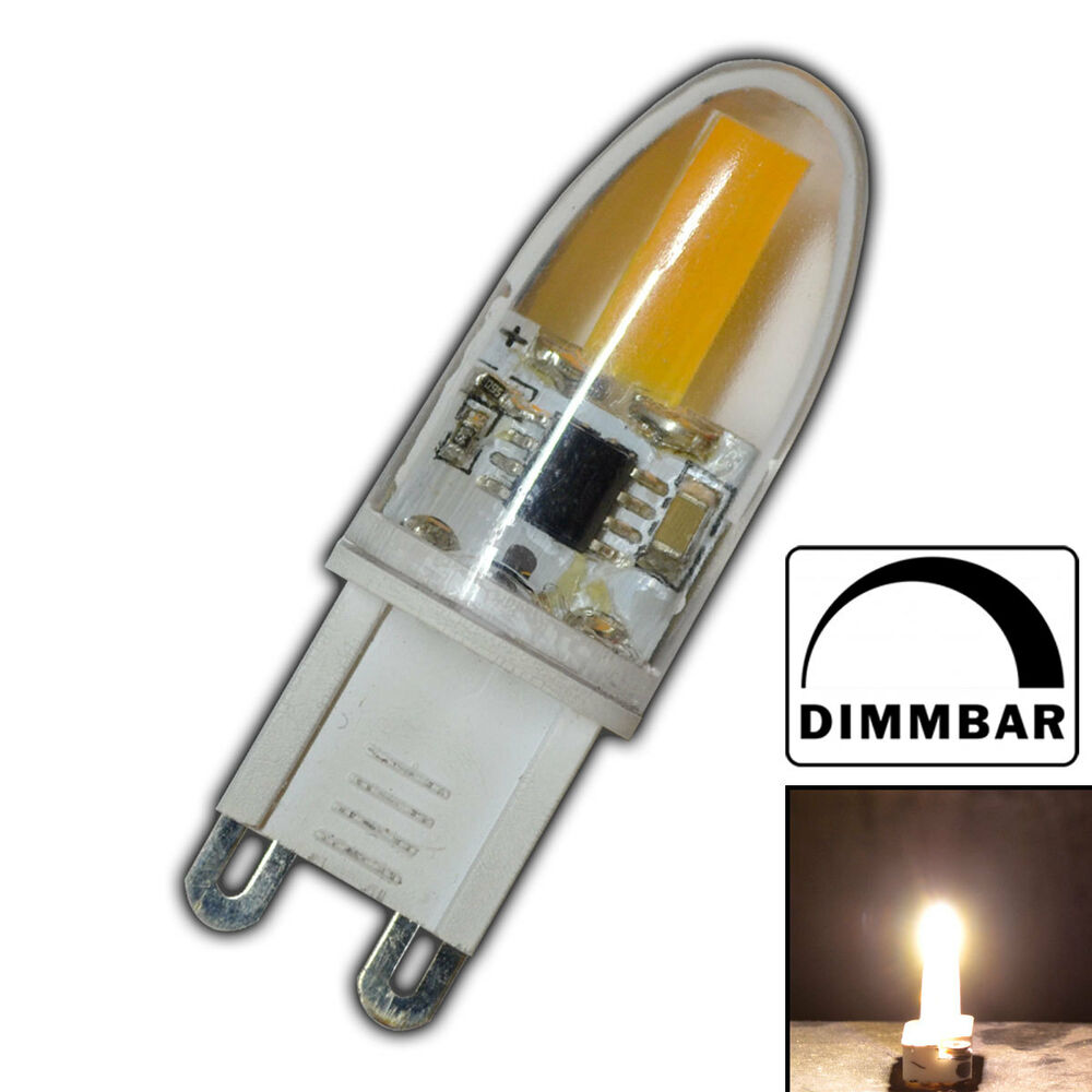 mini g9 cob led 2 watt dimmbar a warmwei 220v leuchtmittel lampe birne ebay. Black Bedroom Furniture Sets. Home Design Ideas