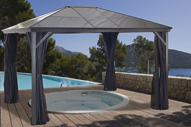 Combo Verona Hard Top Gazebo 10x10 With Polycarbonate Roof