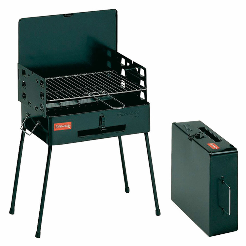 ferraboli koffergrill camping grill holzkohlegrill klappgrill outdoor faltgrill ebay. Black Bedroom Furniture Sets. Home Design Ideas