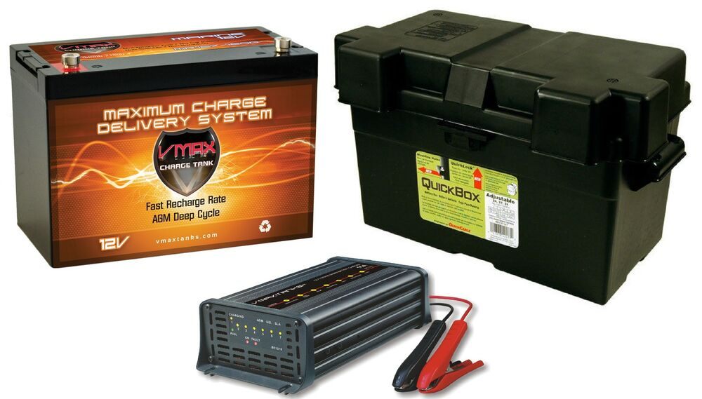 Jump N Carry Jnc660 >> VMAX MR127 12V 100Ah AGM SLA Battery +Battery Box+15A CHARGER for CPAP Machine   eBay