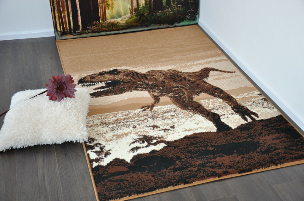 New Extra Large Modern Soft Dinosaur Animal Print Area