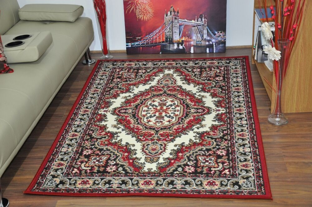 New cream red large modern traditional medallion area rugs for Cheap contemporary area rugs