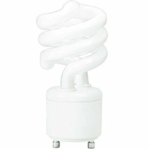 13w cfl mini spiral gu24 base 4100k cool white 60w. Black Bedroom Furniture Sets. Home Design Ideas