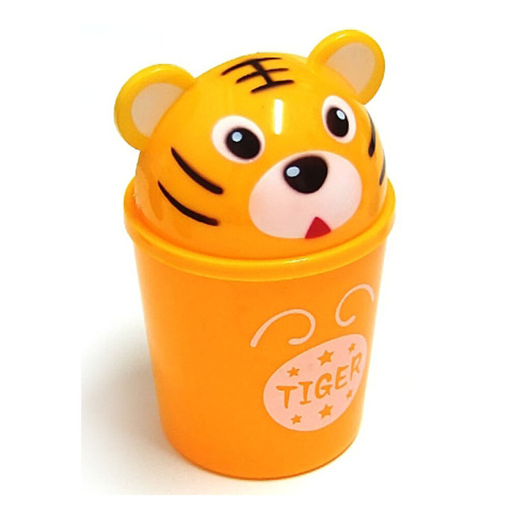Cute Tiger Small Dustbin Animal Character Wastebasket