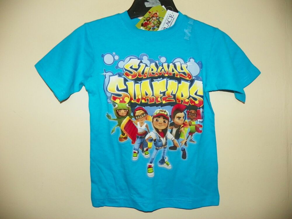 Subway Surfers 5 Characters Boys Size 4 14 Licensed Short Sleeve NWT