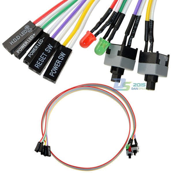 4in1 pc power reset switch hdd led cable light wire kit assembly for computer ebay. Black Bedroom Furniture Sets. Home Design Ideas