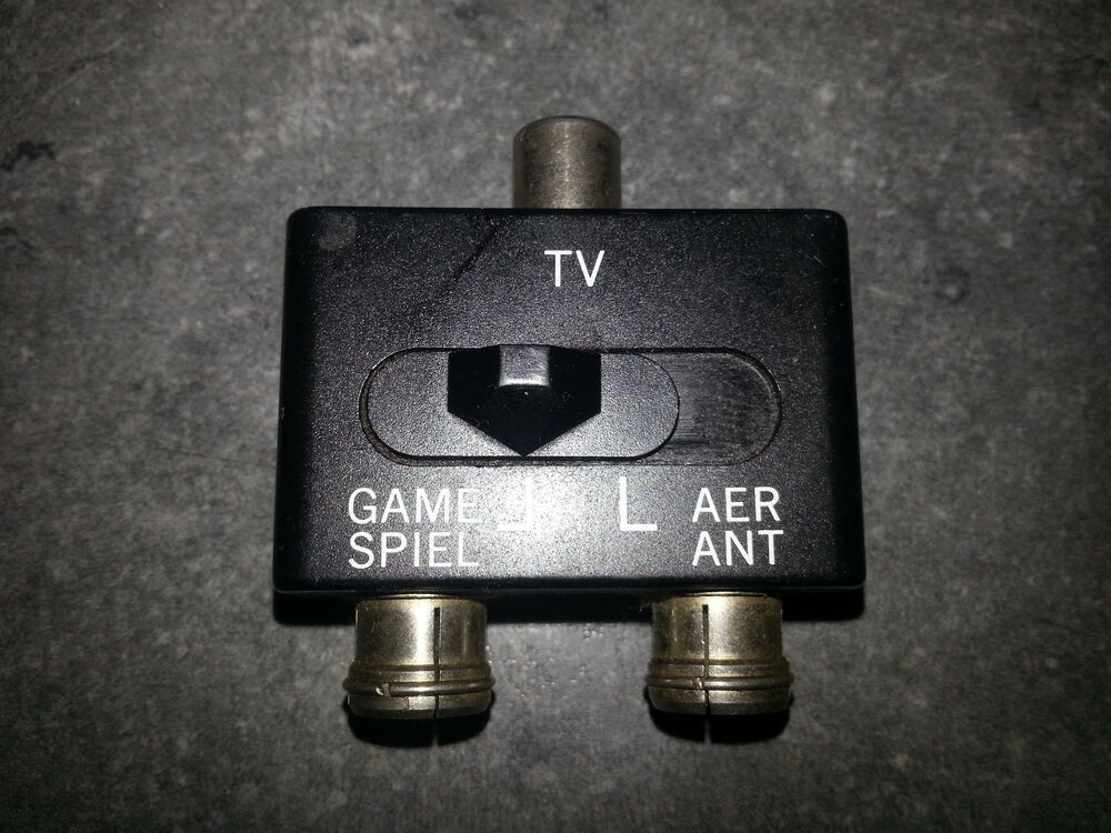 rf tv splitter switch box aerial antenna nes snes n64 nintendo 64 ebay. Black Bedroom Furniture Sets. Home Design Ideas