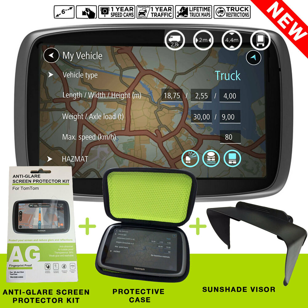 tomtom trucker 6000 truck bundle satnav free lifetime maps 1 year live traffic 636926076029 ebay. Black Bedroom Furniture Sets. Home Design Ideas