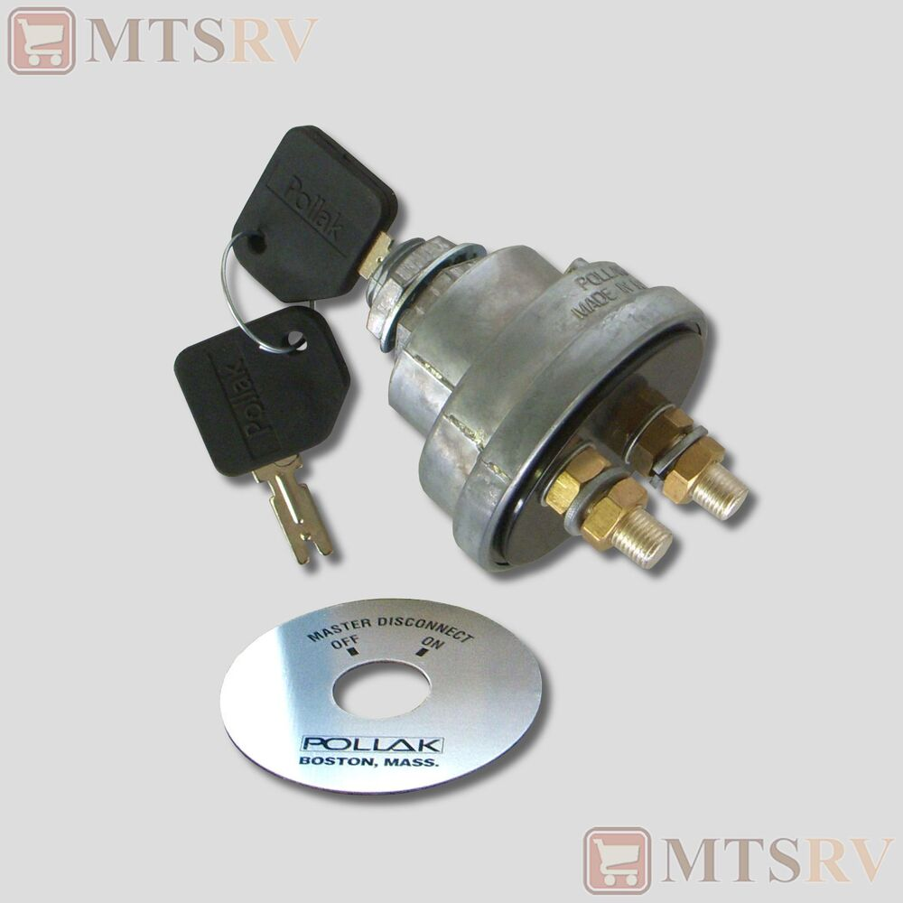 pollak keyed master battery disconnect switch ignition Travel Trailer Battery Disconnect Switch Battery Switch Wiring Diagram