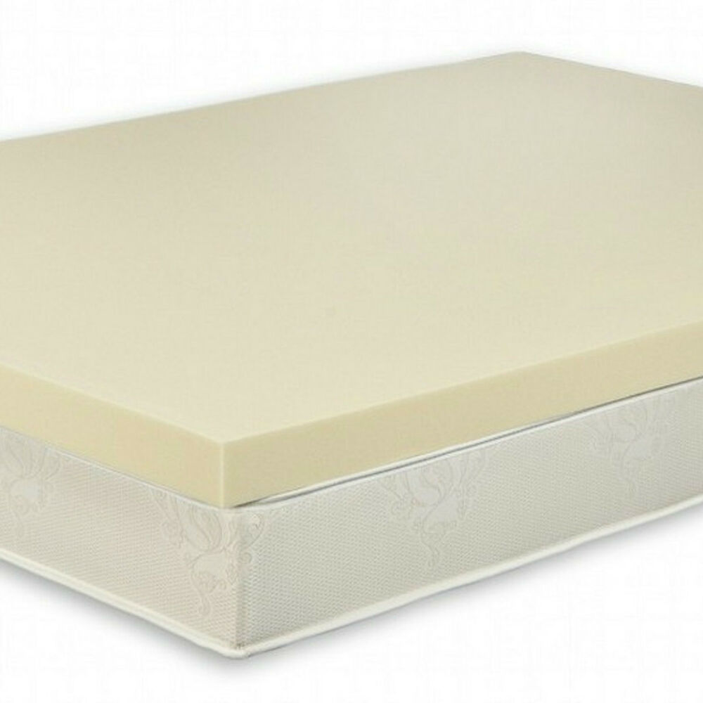 3 queen size high density 4 0 memory foam bed topper mattress pad with cover ebay. Black Bedroom Furniture Sets. Home Design Ideas