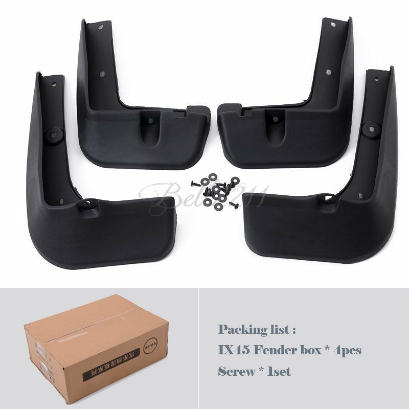 For Hyundai Santa Fe 2013 2014 Plastic Mud Flaps Splash