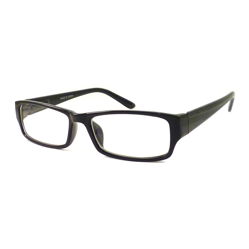 vintage nerd rectangular frame men women eyewear clear lens eye glasses black ebay