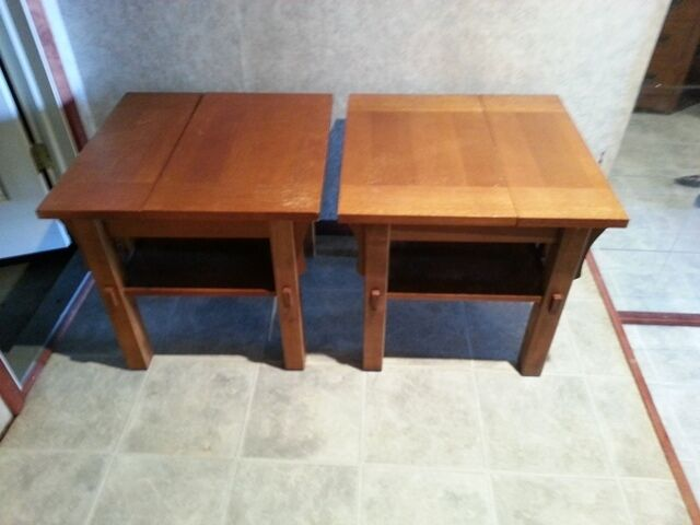 FURNITURE SET RAISABLE COFFEE END TABLE SHAKER STYLE EBay