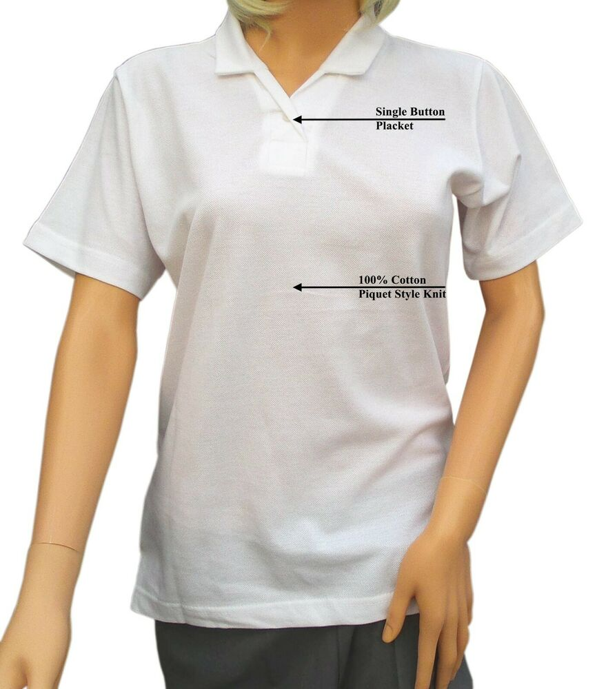 Ladies White Bowling Blouse 9