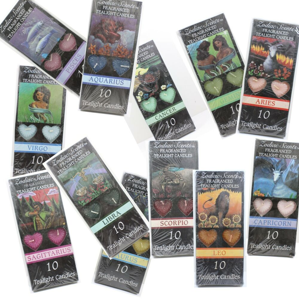 WHOLESALE LOT 1440 ZODIAC TEALIGHT CANDLES 144 PACKS OF 10