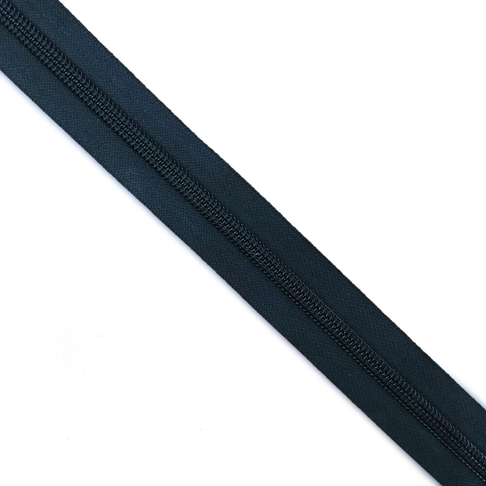 8 Nylon Coil Zipper Tape Black By The Yard Ebay