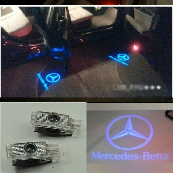 Led door courtesy laser projector light mercedes benz w203 for Mercedes benz door lights