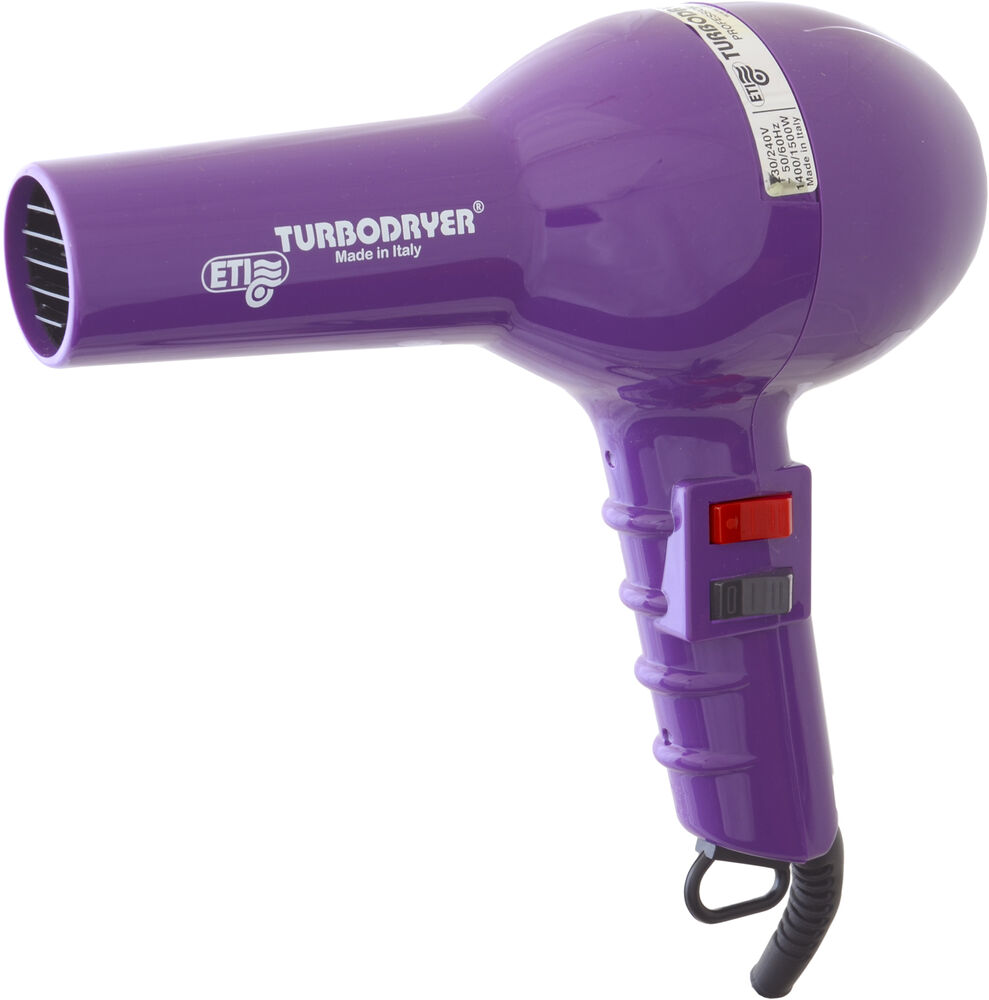 eti 2000 professional hair dryer purple 1500w long cord 1 nozzle 2 speeds ebay. Black Bedroom Furniture Sets. Home Design Ideas