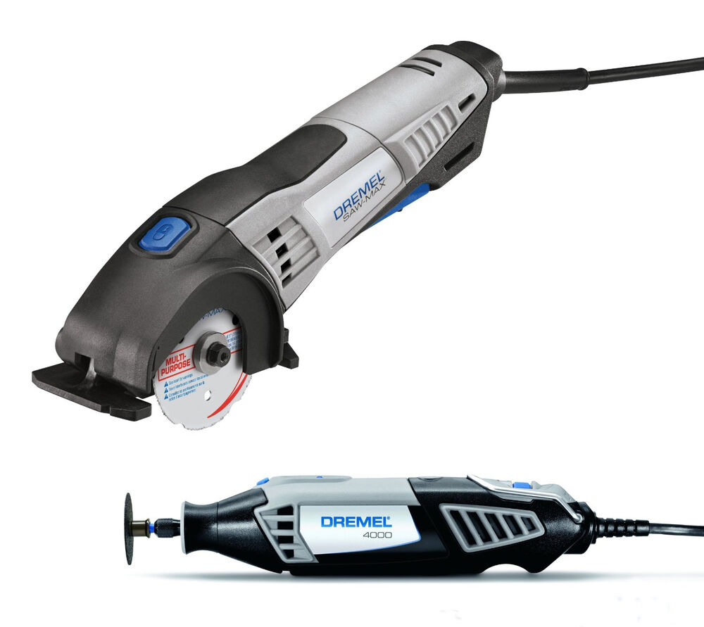 dremel 4000 sm20 variable speed rotary tool kit sawmax two tool combo pack ebay. Black Bedroom Furniture Sets. Home Design Ideas
