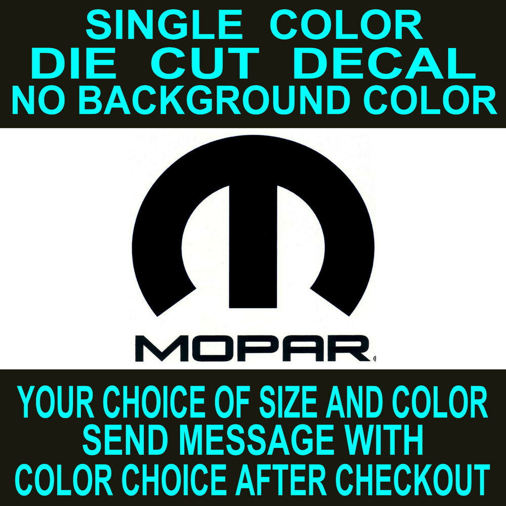 Mopar Vinyl Window decal dodge car truck tool box sticker ...
