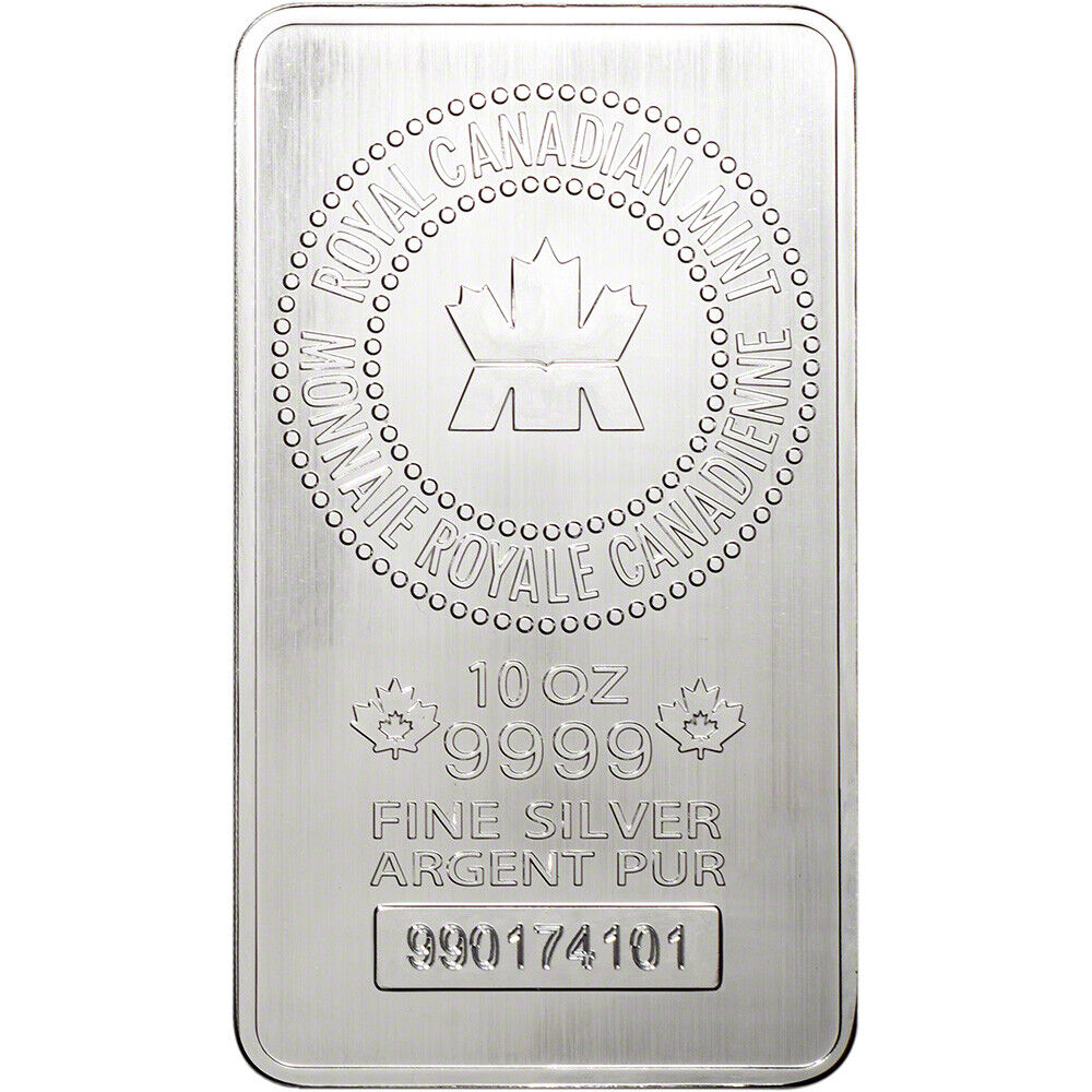 10 Oz Rcm Silver Bar Royal Canadian Mint 9999 Fine Ebay