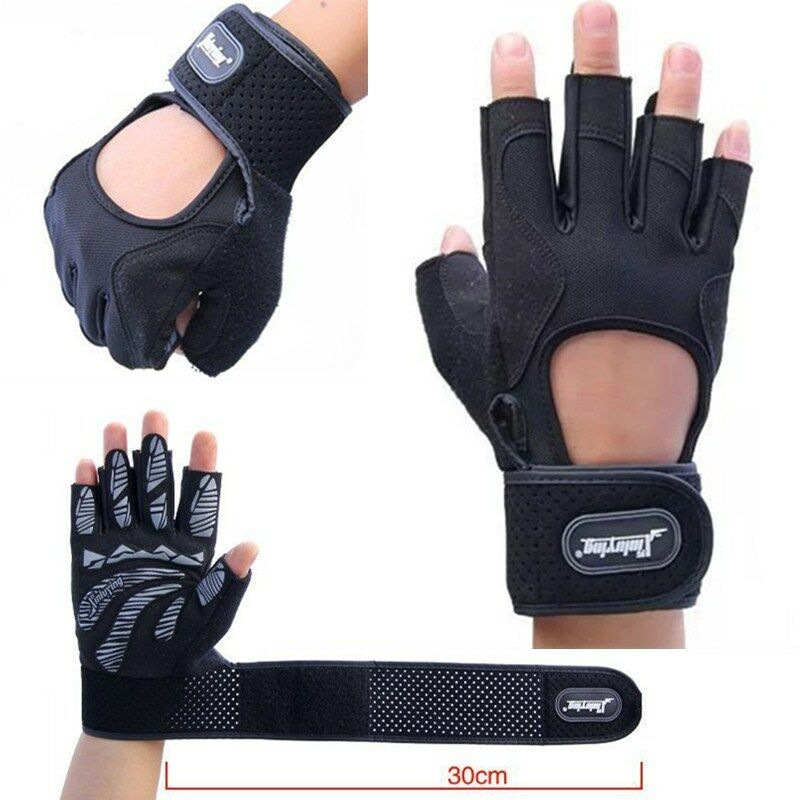 Weight Lifting Gloves Leather Fitness Gym Training Workout: Men Weight Lifting Gym Fitness Gloves Breathable With Gel