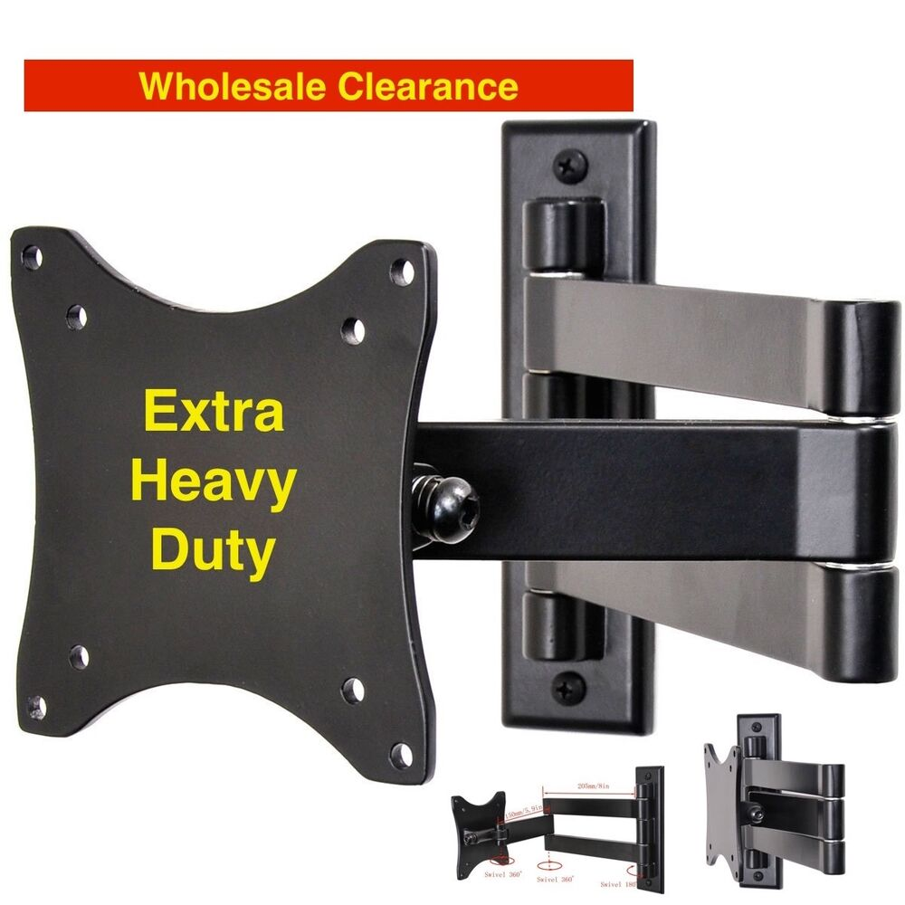 campers rv 39 s articulating arm tv lcd monitor wall mount up to 27 extra heavy ebay. Black Bedroom Furniture Sets. Home Design Ideas