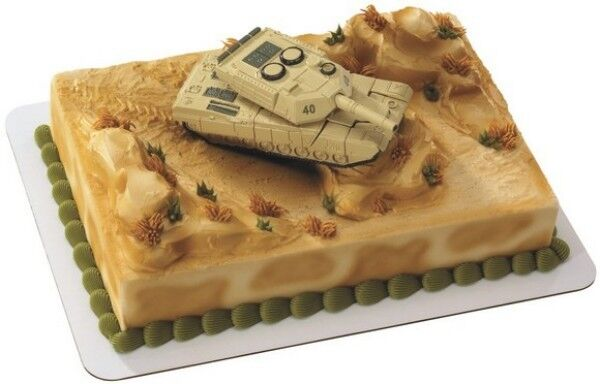 Cake decorating topper kit robot military army tank ebay for Decoration kit