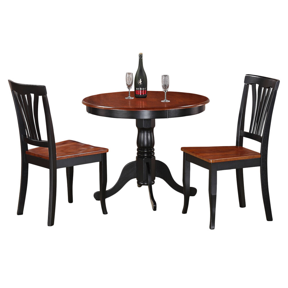 Dining Table With Two Chairs: 3-Piece Kitchen Nook Dining Set-Small Kitchen Table And 2
