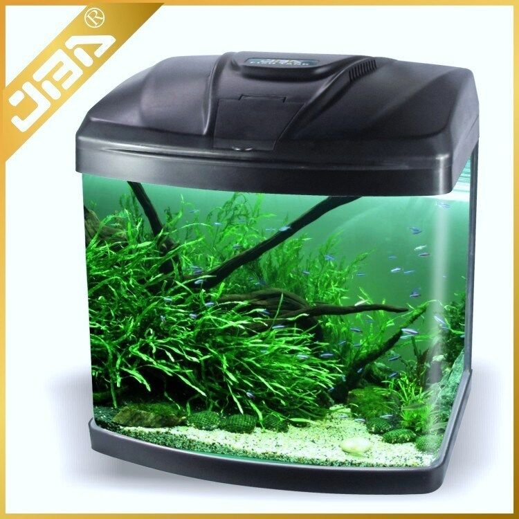 nano tank aquarium fish tank 15l 28l 48l 75l led lights internal filter ebay. Black Bedroom Furniture Sets. Home Design Ideas