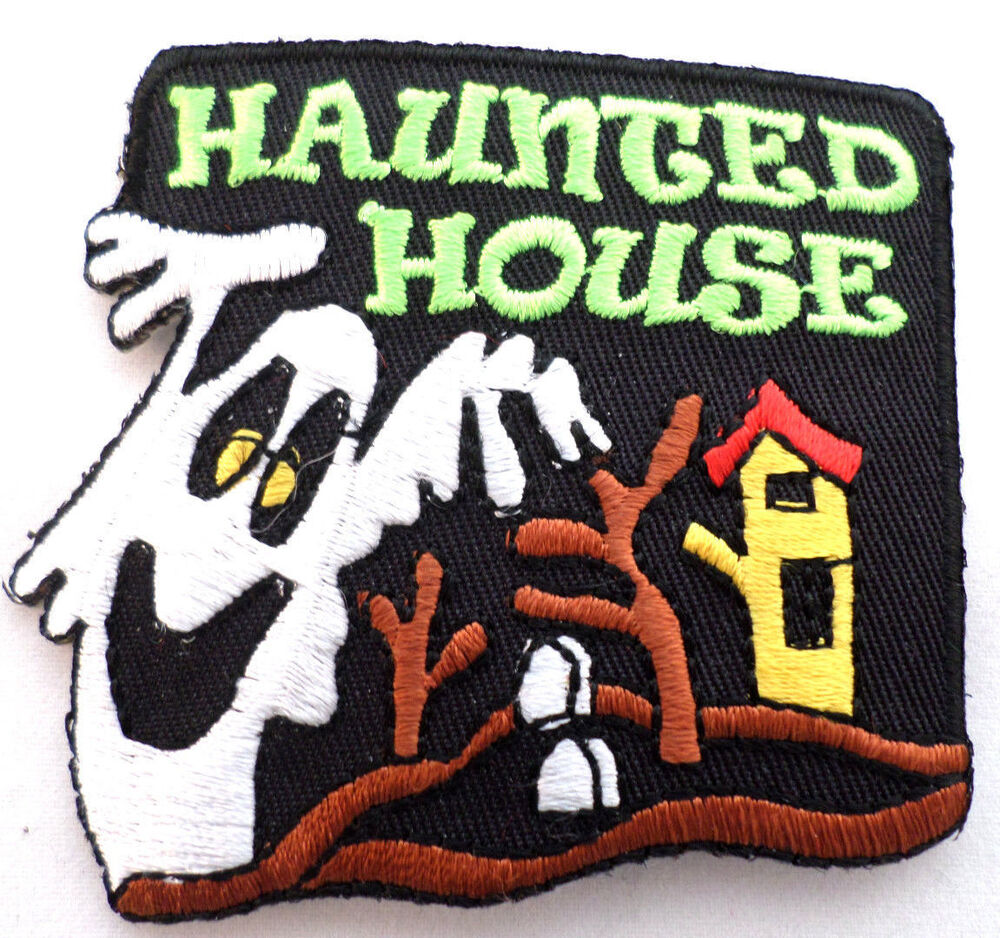 girl scout gs uniform patch halloween haunted house ghost