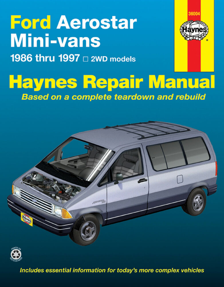 ford aerostar haynes manual 36004 mini van service repair. Black Bedroom Furniture Sets. Home Design Ideas