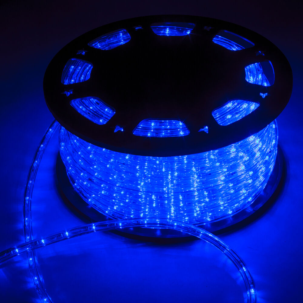 150FT LED Rope Light Home In Outdoor Christmas Decorative Party Blue 1620LEDS