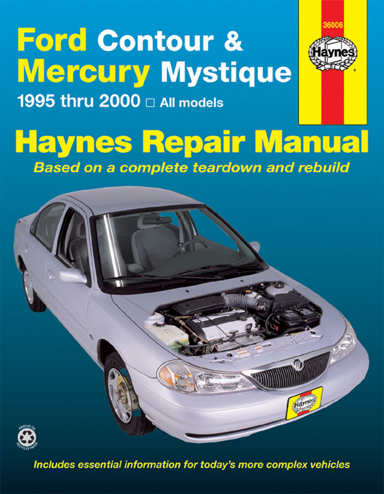haynes repair manual 36006 ford contour mercury. Black Bedroom Furniture Sets. Home Design Ideas