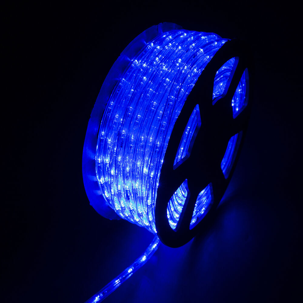 100ft Led Rope Light Home Indoor Outdoor Christmas Decorative Party Blue 110v Ebay