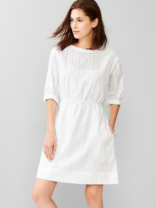 Gap Women S Dobby Jacquard White Fit Amp Flare Dress 69 50