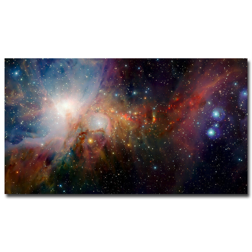 Galaxy space stars nebula landscape silk fabric poster for Nebula material