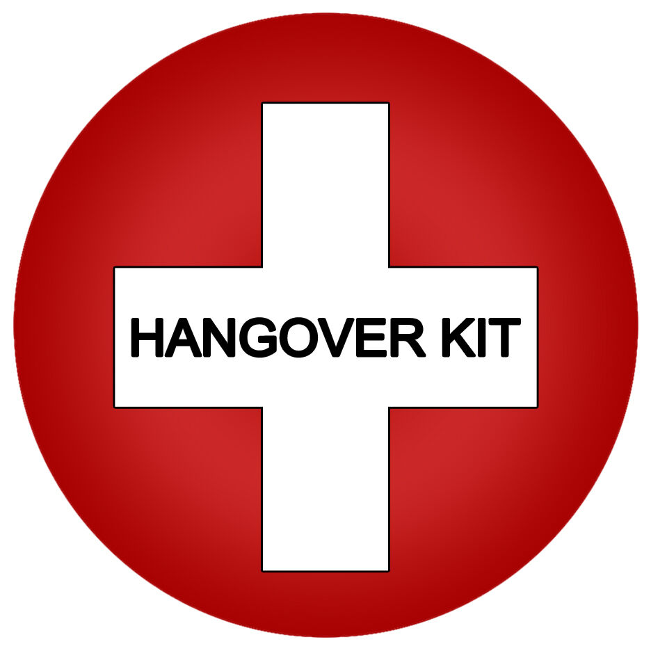 This is an image of Critical Hen Party Hangover Kit Labels