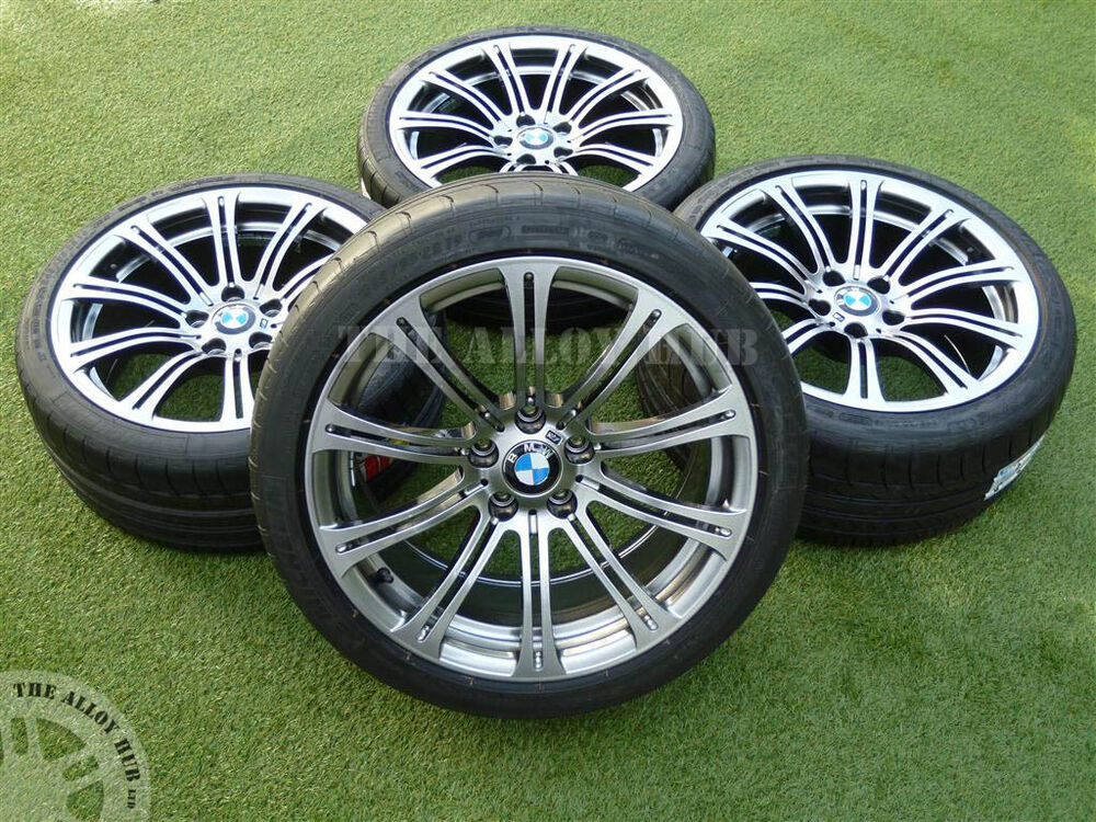 Genuine Bmw M3 E90 2 3 19 Quot 220m Sport Silver Black Alloy Wheels Michelin Tyres Ebay