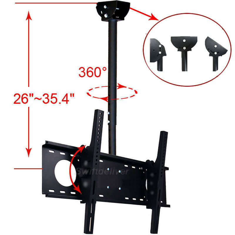 tilt tv ceiling mount bracket 39 40 42 43 46 48 50 51 55 60 65 led lcd uhd 3s5 ebay. Black Bedroom Furniture Sets. Home Design Ideas