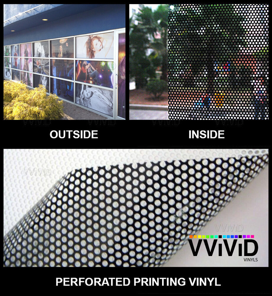 Perforated Mesh Adhesive Printing Vinyl 50ft X 54 Quot Vvivid