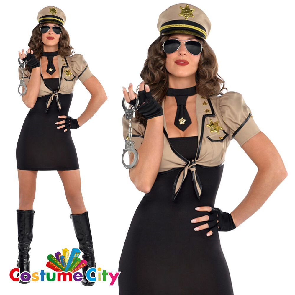 Womens Sexy Police Black Uniform Costume Ladies Officer Outfit Halloween Dress See more like this SPONSORED Women Police Fancy Halloween Costume Sexy Cop Outfit Cosplay Erotic_Lingerie SY.