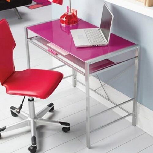 Glass Top Computer Or Work Desk Tray Small Home Office