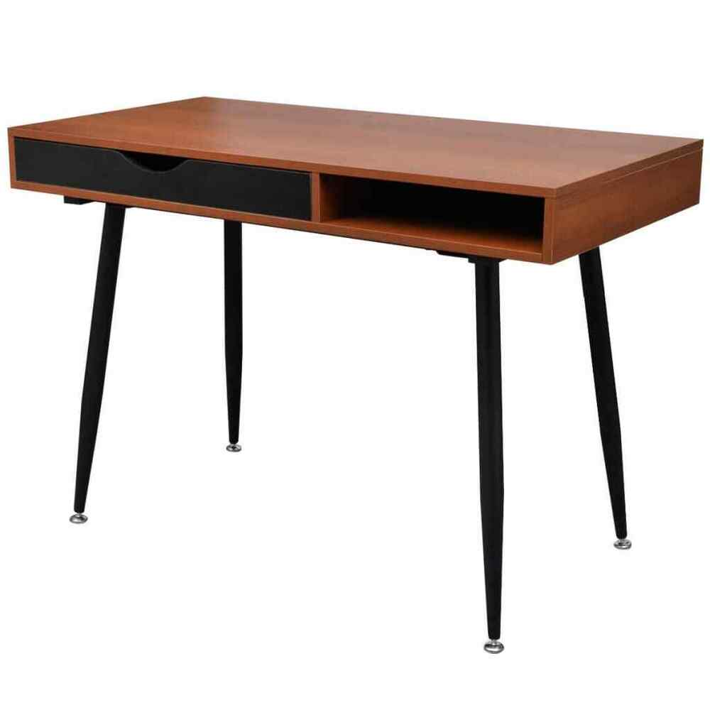 New Brown Workstation Computer Desk Laptop PC Table Home Office High
