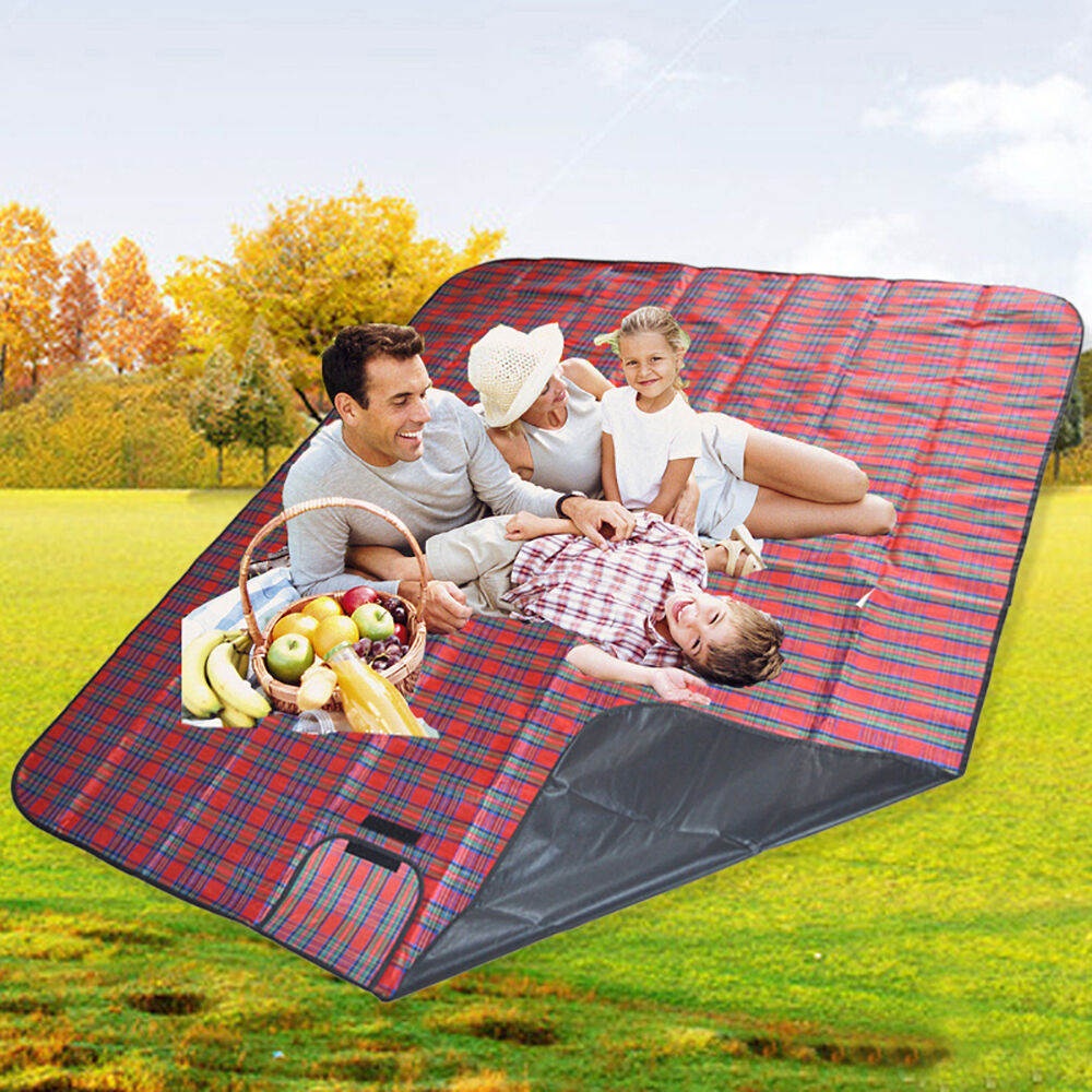 Extra Large Waterproof Picnic Blanket Rug Travel Pet Dog