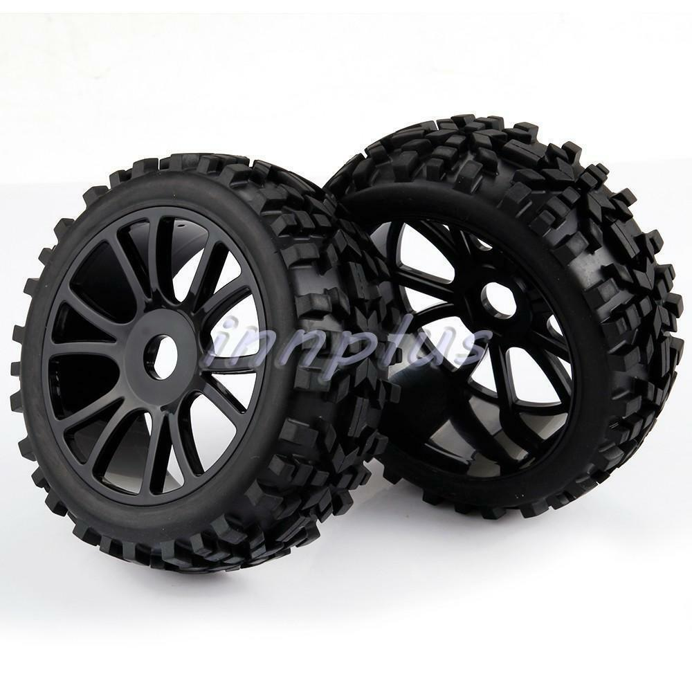 4× RC 1/8 Scale Off Road Car Buggy Tires 17mm hex Wheels ...