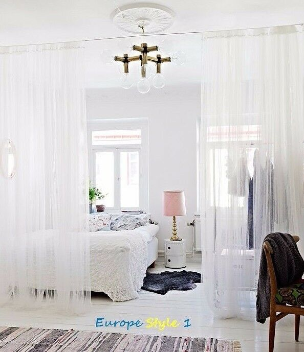 2 x new ikea lill sheer panels white curtains each