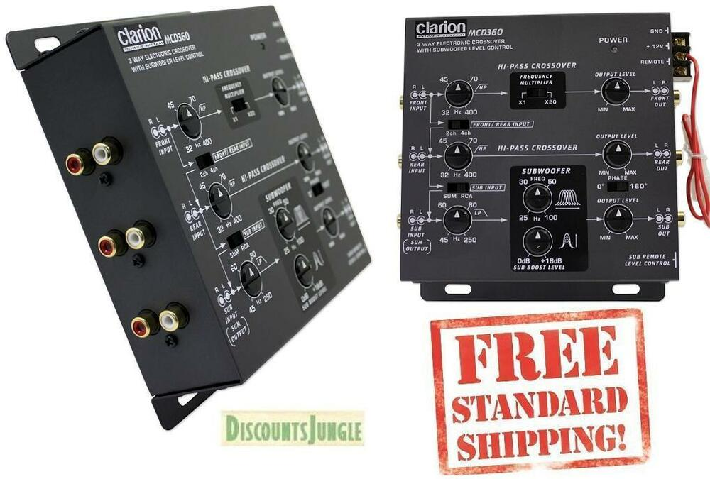 NEW CLARION MCD360 3-WAY ELECTRONIC CROSSOVER 6-CHANNEL 5-VOLT RCA OUTPUTS | eBay