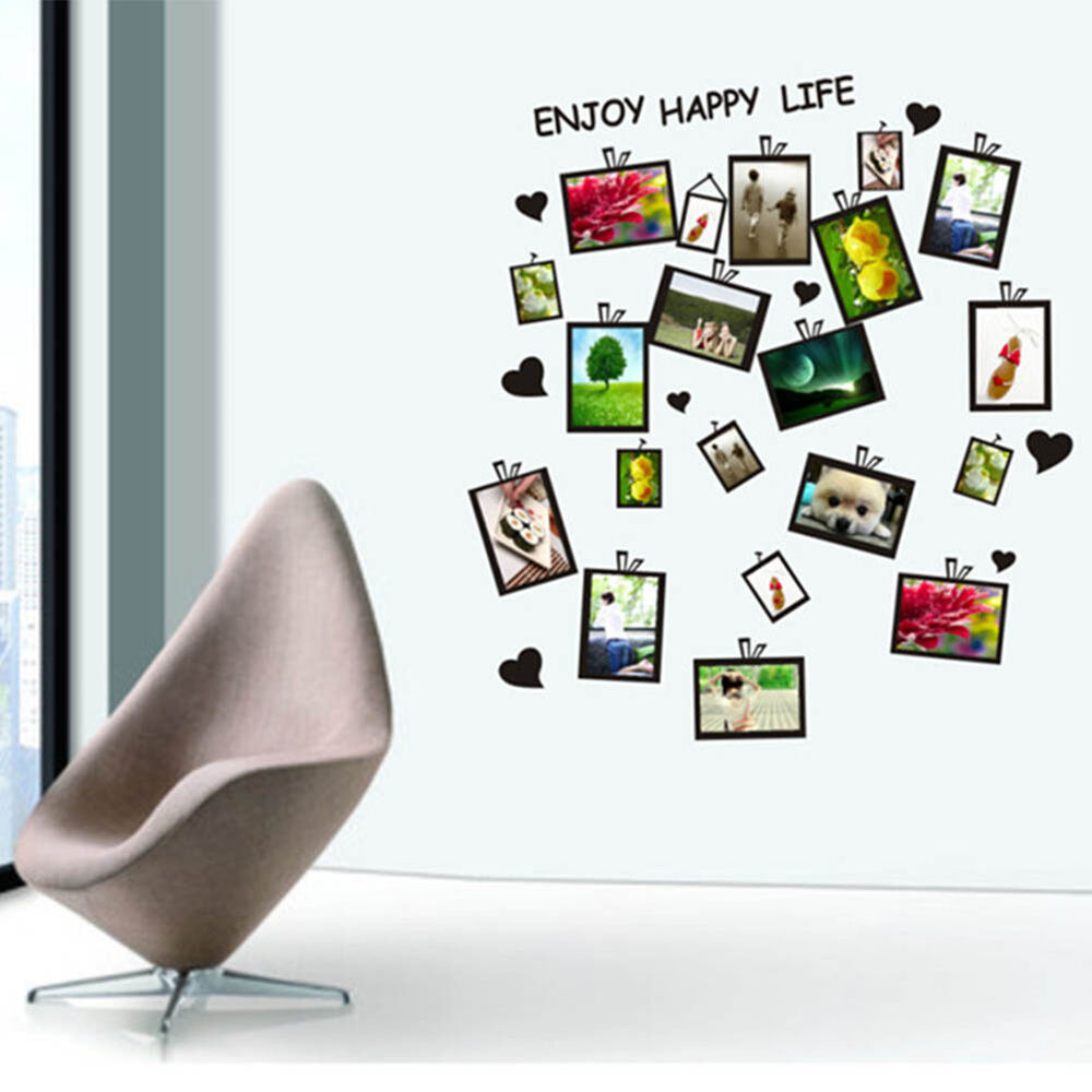 Office Wall Decor Set : Picture photo frame set wall sticker decal decor home room